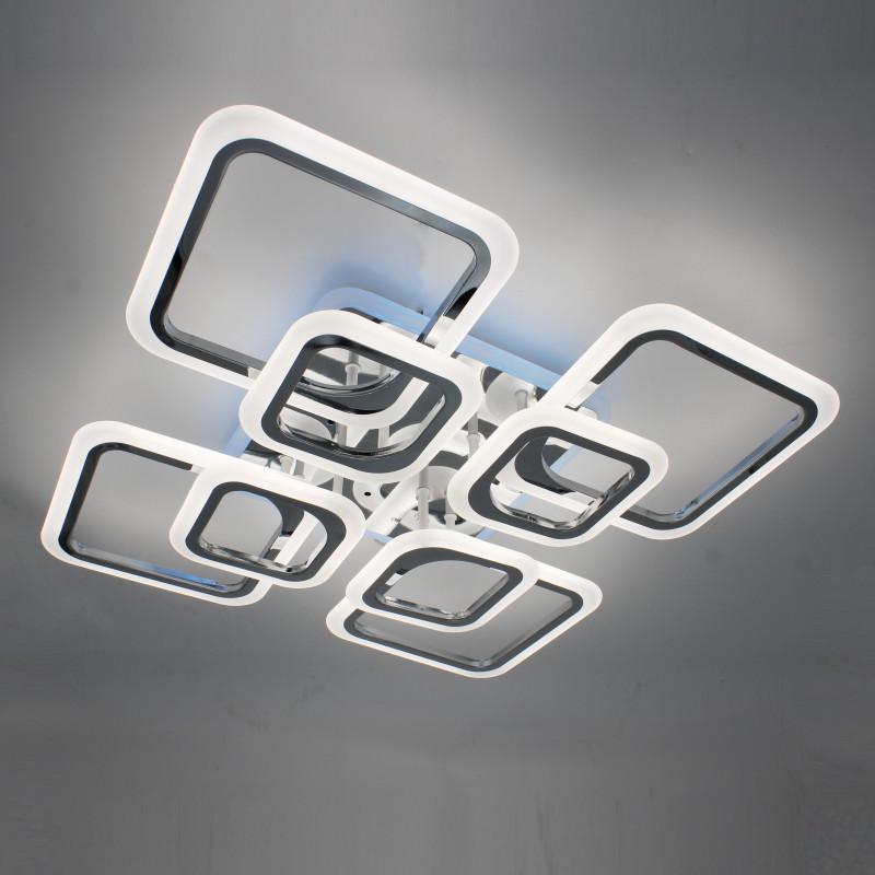 Фото Светодиодная акриловая люстра с пультом  LD3688-8CR+RGB