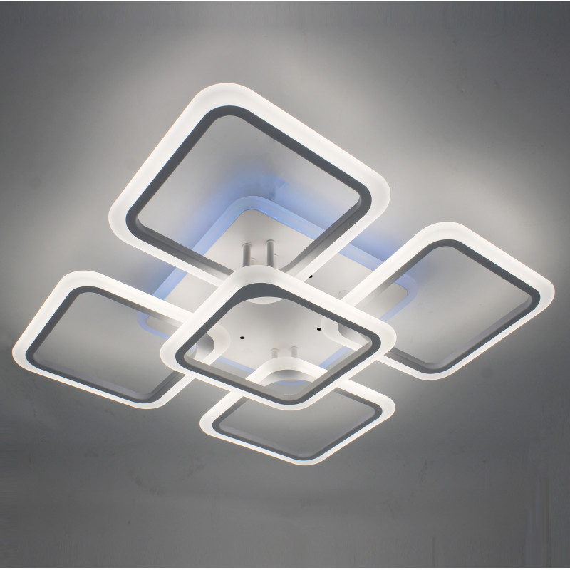 Фото Светодиодная акриловая люстра с пультом LD3689-5+RGB