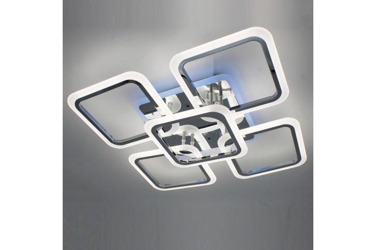 Светодиодная акриловая люстра с пультом LD3689-5CR+RGB