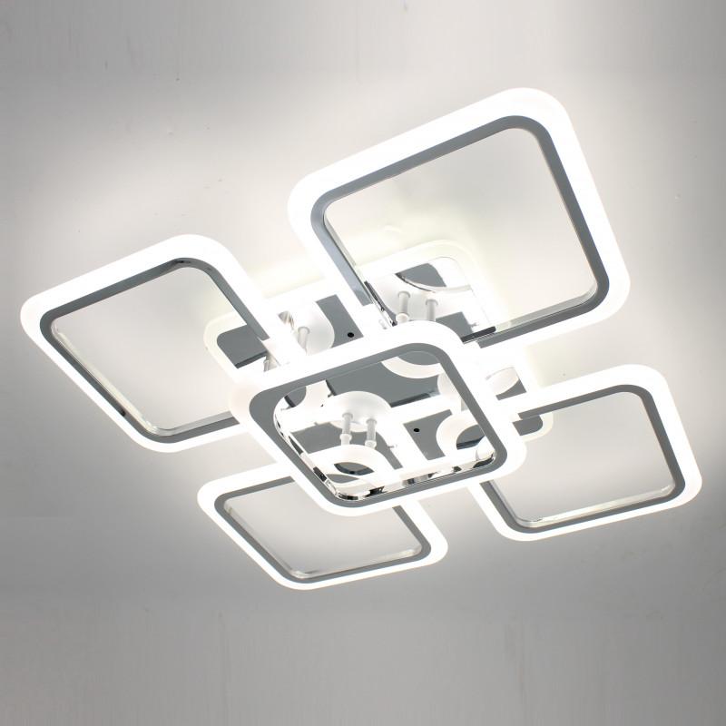 Фото Светодиодная акриловая люстра с пультом LD3689-5 CR
