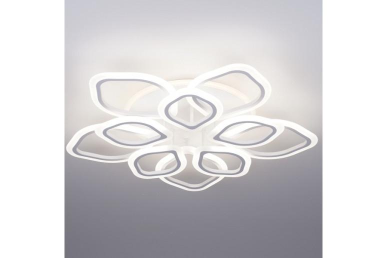 Светодиодная акриловая люстра с пультом 3398-10 100*2W+21W подсветка
