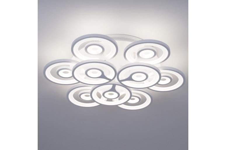 Светодиодная акриловая люстра с пультом 3573-9 153W*2