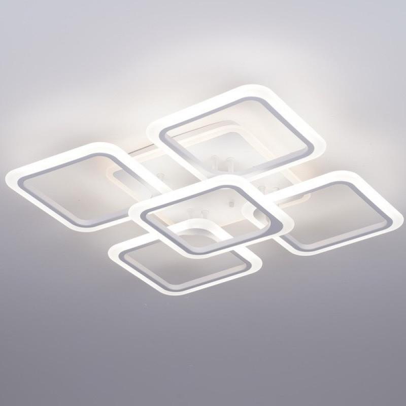 Фото Светодиодная акриловая люстра с пультом 3689-5