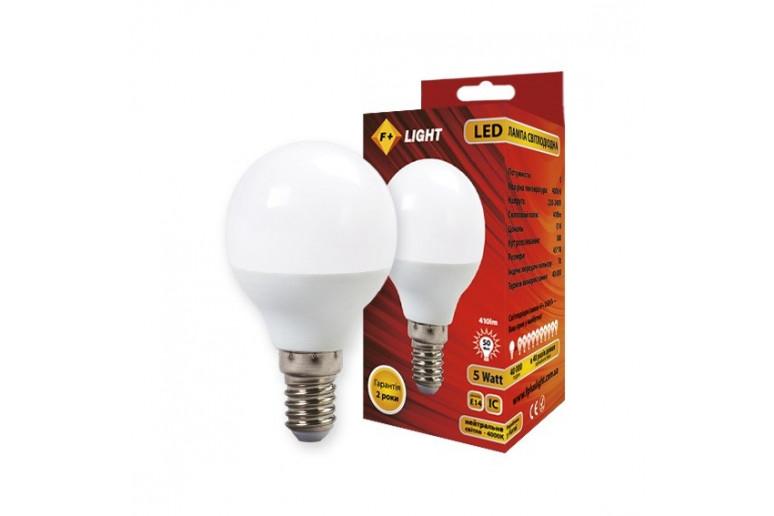 Светодиодная лампа G45B 5W 4000K E14 IC