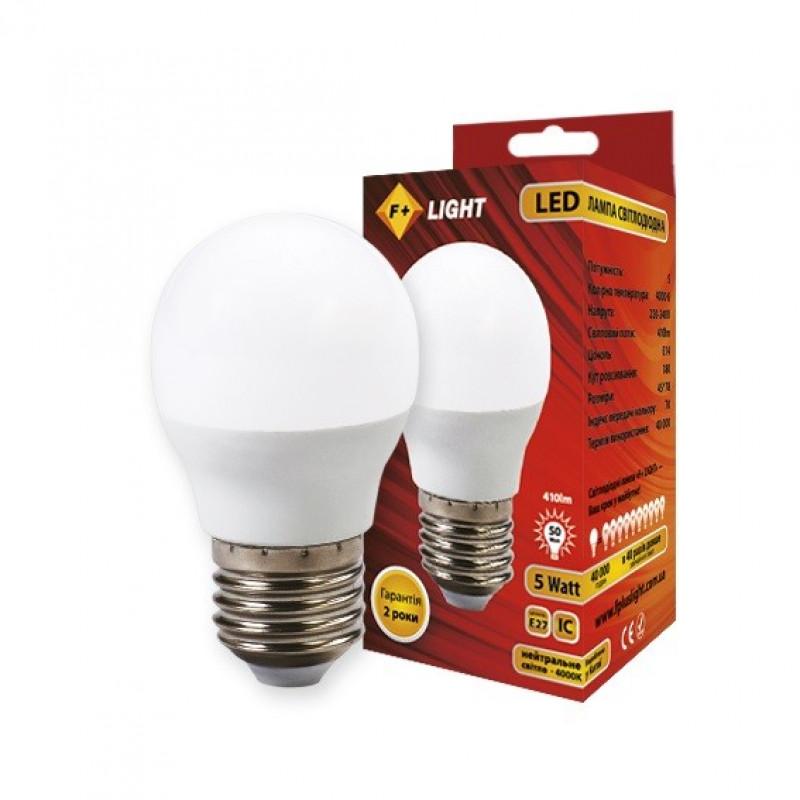 Фото Светодиодная лампа G45B 5W 4000K E27 IC