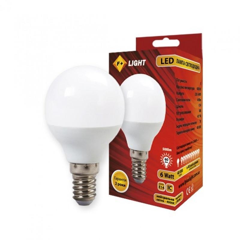Фото Светодиодная лампа G45B 6W 4000K E14 IC