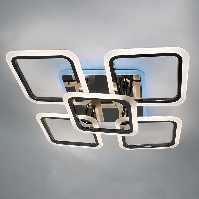 Фото Светодиодная акриловая люстра с пультом LD3689-5 BK+CR+RGB