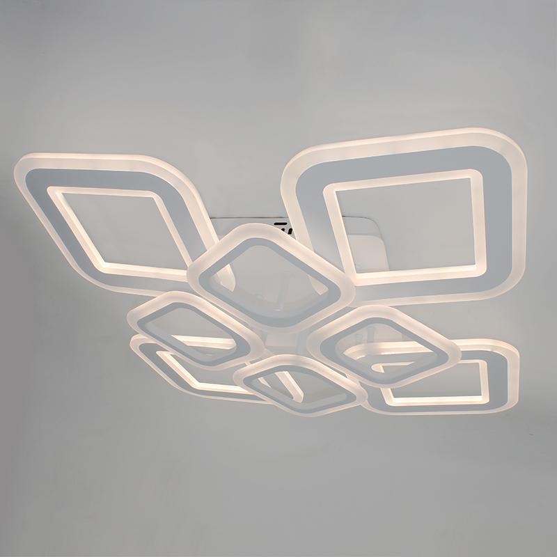 Фото Светодиодная акриловая люстра с пультом LD4332-4+4